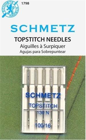 SCHMETZ #1798 Topstitch Needles Carded - 100/16 - 5 count
