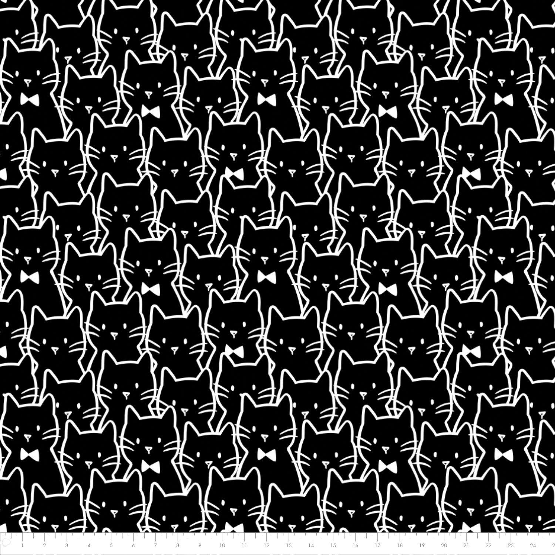 Meow Cat Cluster Fleece