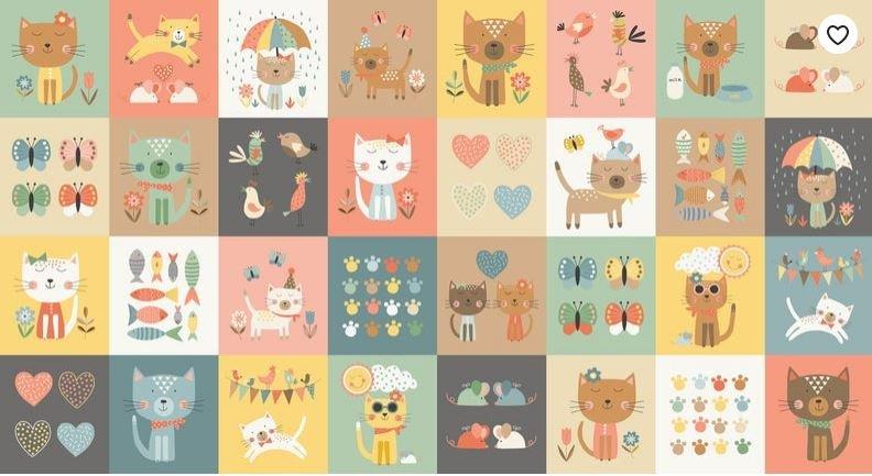 MK2186-1 Cool Cats blocks