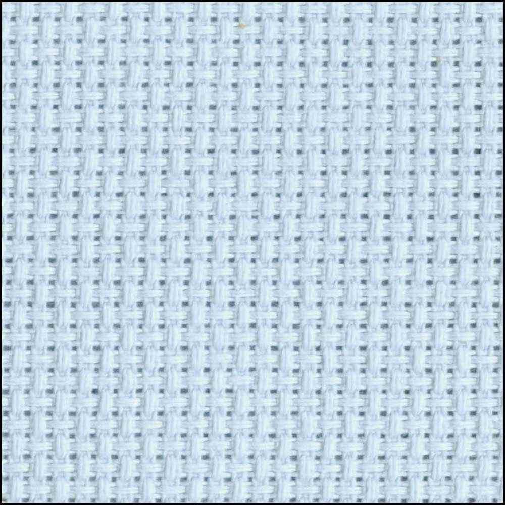 DMC CHARLES CRAFT Cotton Aida 14ct 38 x 45.7cm - Light Blue Tube Pack
