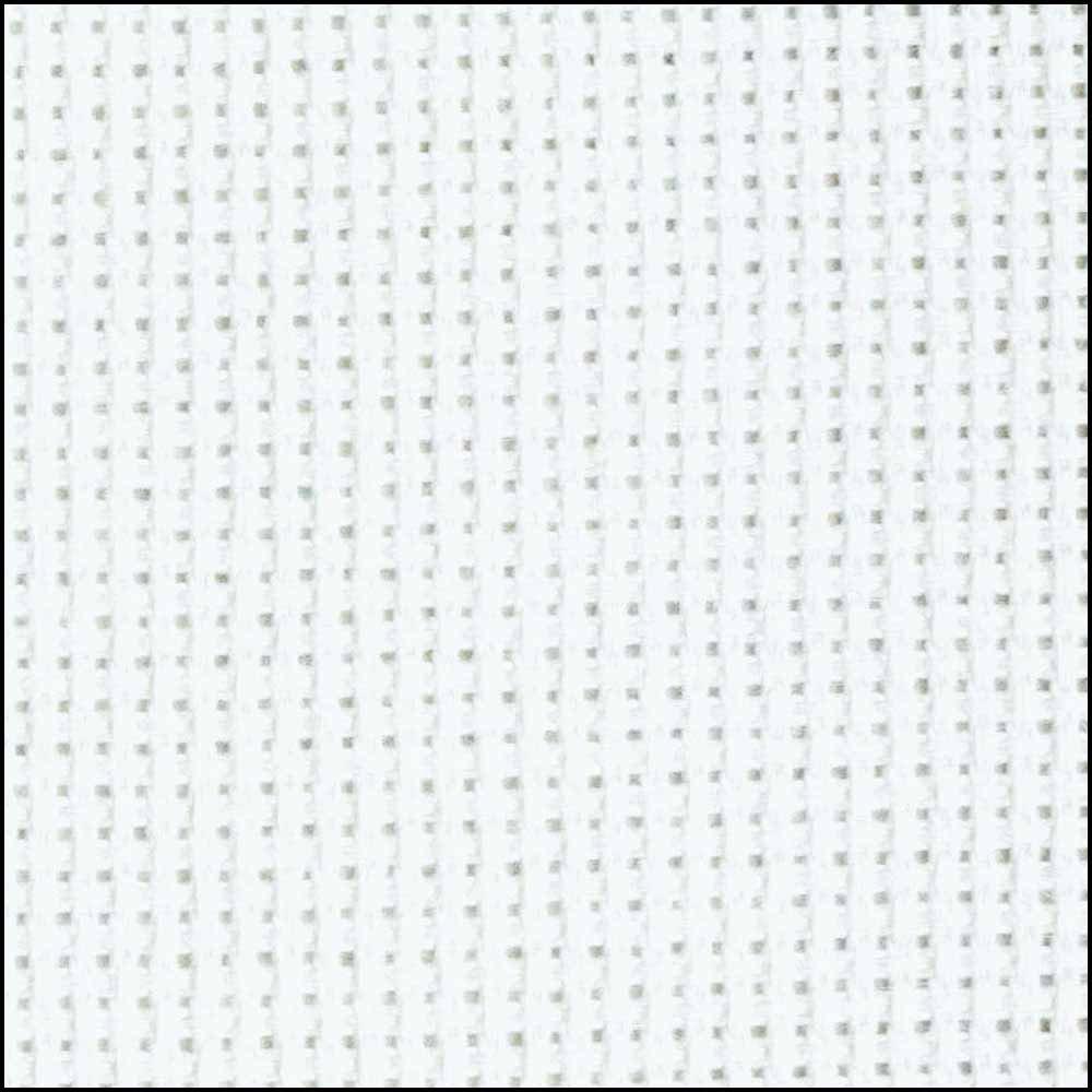 Aida Cloth 16ct White 15x18 - Tube Pack