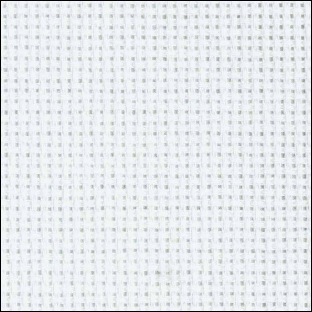 DMC CHARLES CRAFT Cotton Aida 18ct 38 x 45.7cm - White  Tube Pack
