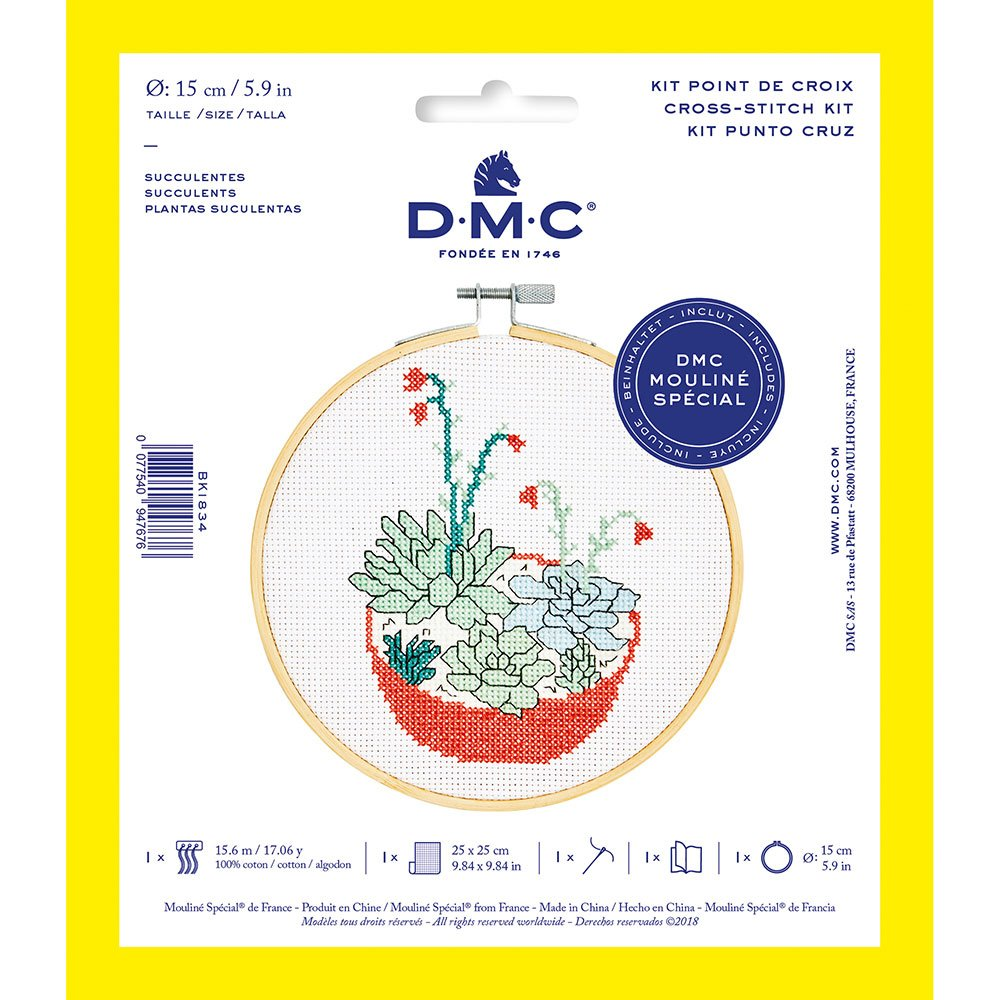 DMC Cross-Stitch Kit Succulent