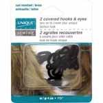 2 covered hooks & eyes black