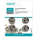 Snap Fasteners Nickel - size 7 / 15mm - 4 sets