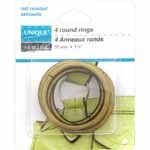 Round Rings - 32mm (11?4) - Antique Gold - 4 pcs
