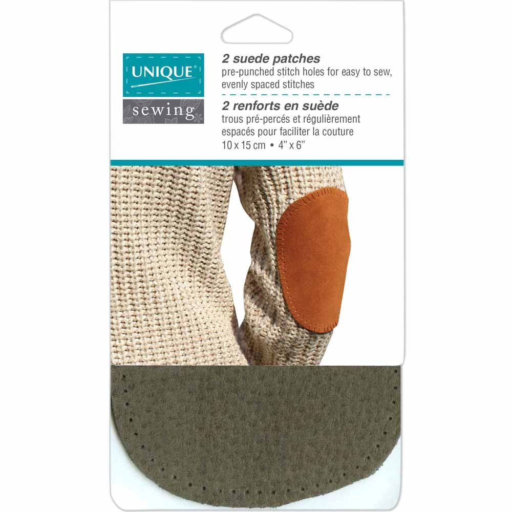 Suede Patch Grey - 10 x 15cm (4? x 6?) - 2pcs