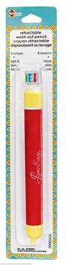 HEIRLOOM 6-Colour Retractable Washout Pencil
