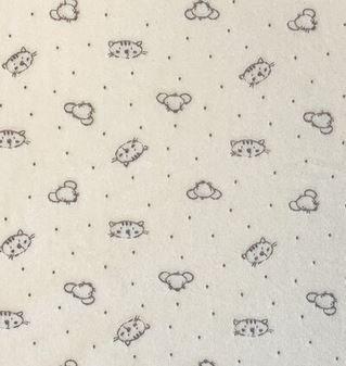 Velvet Fleece Cat/Mouse - Cream (20H)