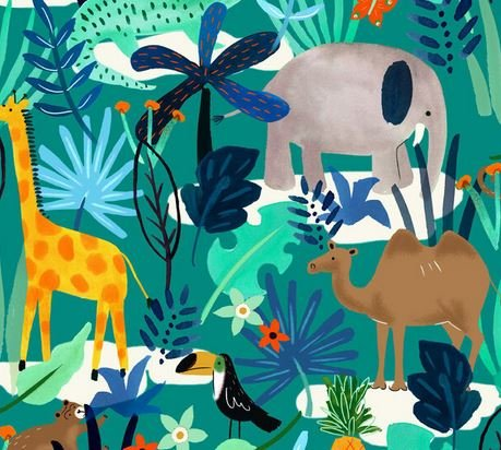 3271-44 Flannelette Jungle (20F)