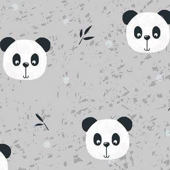 4501-201 Pretty Panda .- Grey (20D)