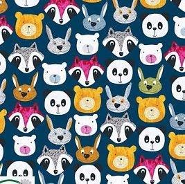 4501-197 Pretty Panda- Dark Blue (20D)