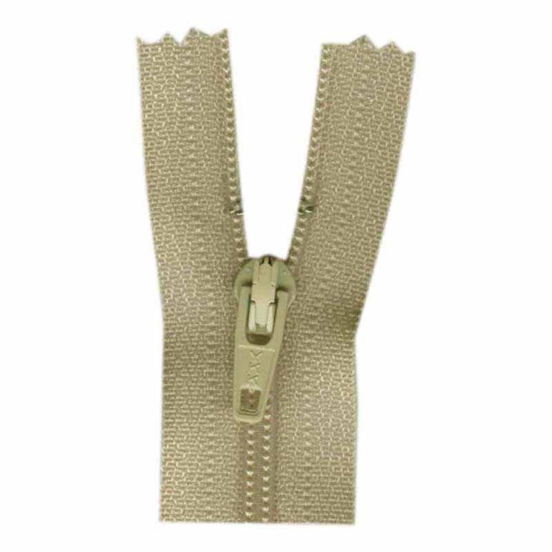 1700 - Closed End Zipper 45cm (18) - #572 Natural