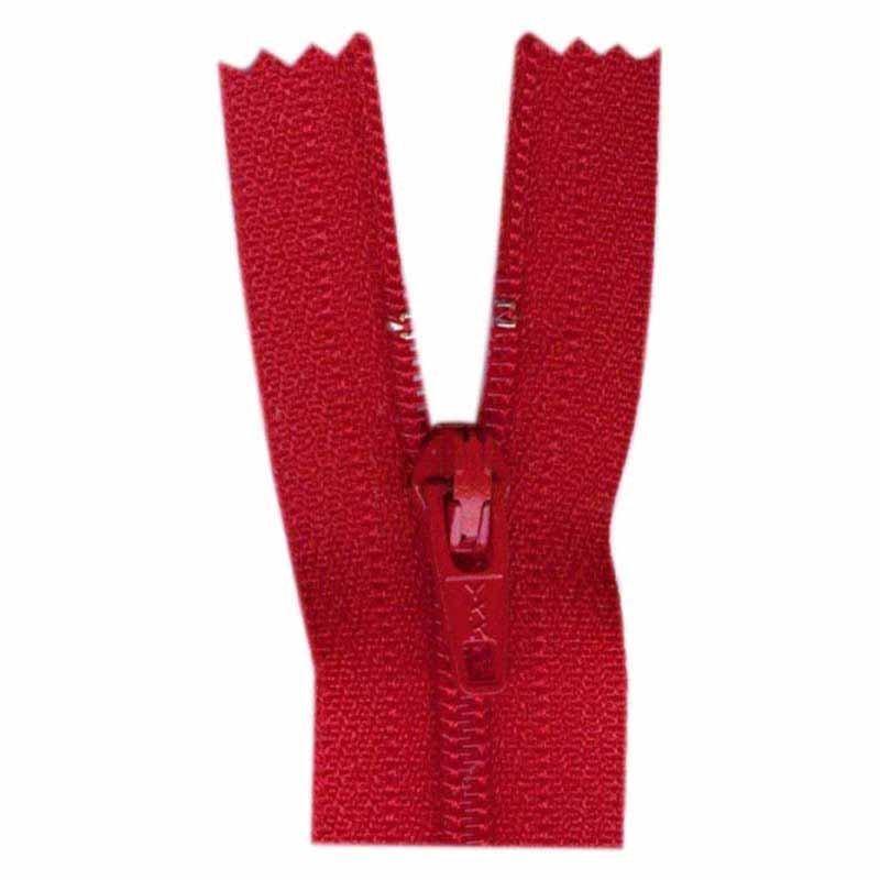 1700 - Closed End Zipper 45cm (18) - #519 Hot Red