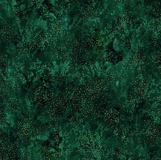 24856-31 Autumn is in the air - Emerald & Gold (21F)