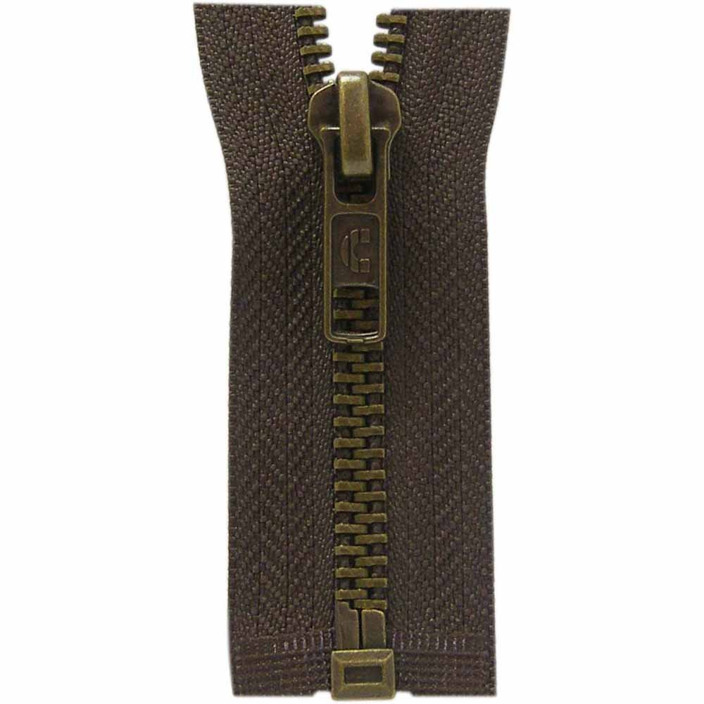 Seperating Outerwear Zipper 50cm #570 September Brown