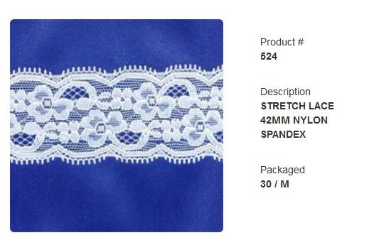 #524 Stretch Lace 42mm