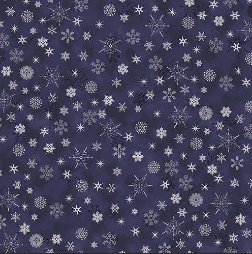 4598-605  Stof- Christmas Is Near Metallic (21H)