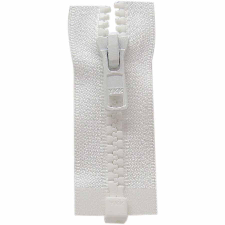 One Way Separating Zipper 65cm (26?) - White - 1764