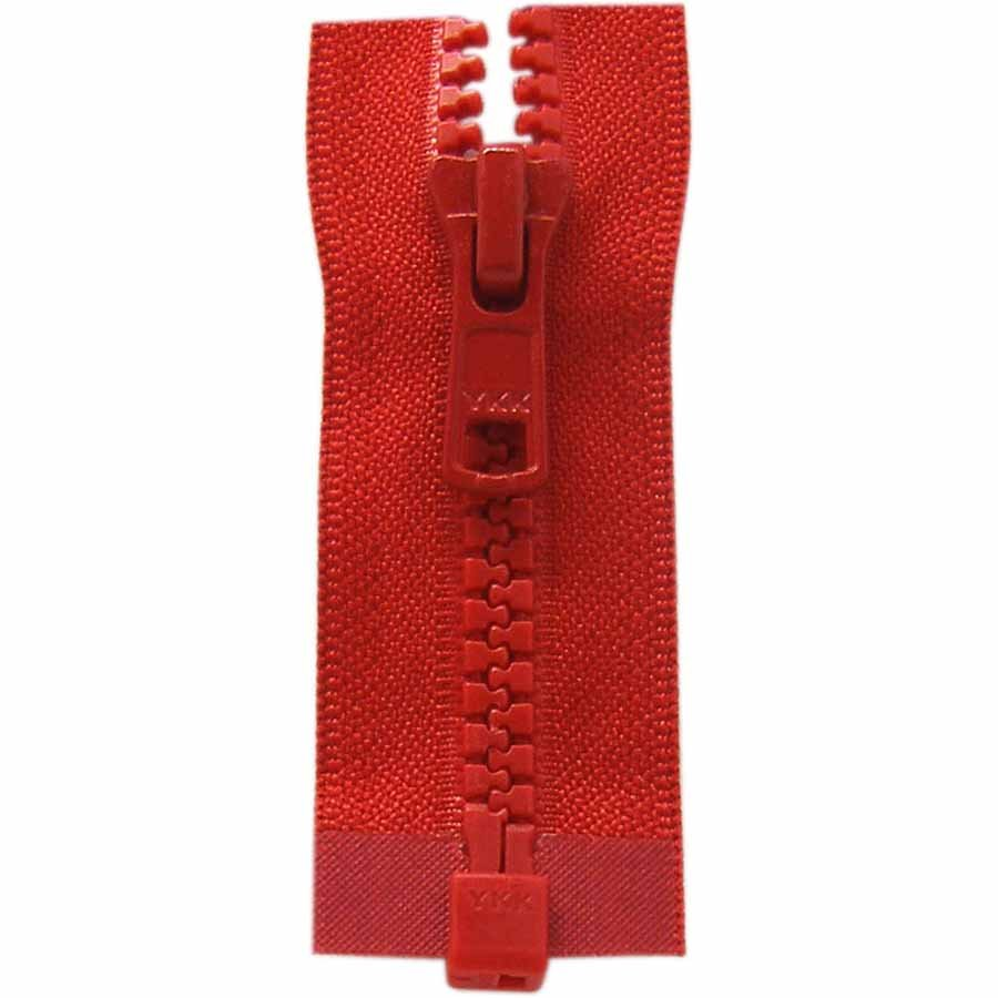 Activewear One Way Separating Zipper 65cm (26?) - Hot Red - 1764
