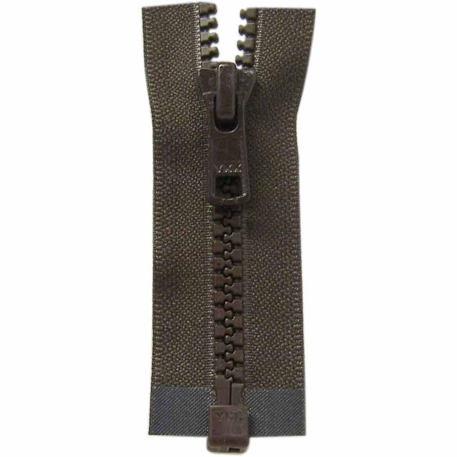 Activewear One Way Separating Zipper 65cm (26?) - Sept. Brown - 1764
