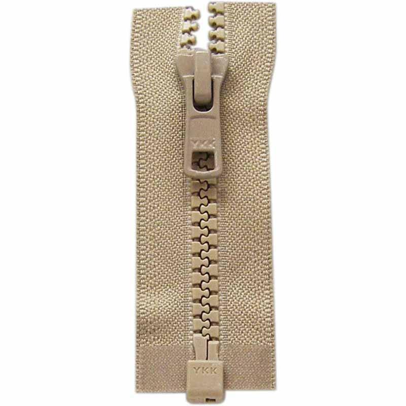 Activewear One Way Separating Zipper 65cm (26?) - Light Beige - 1764