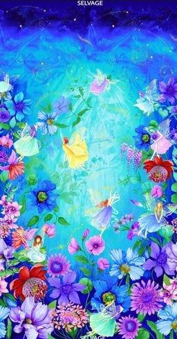 CD7236-Aqua Fairy Fantasy Panel