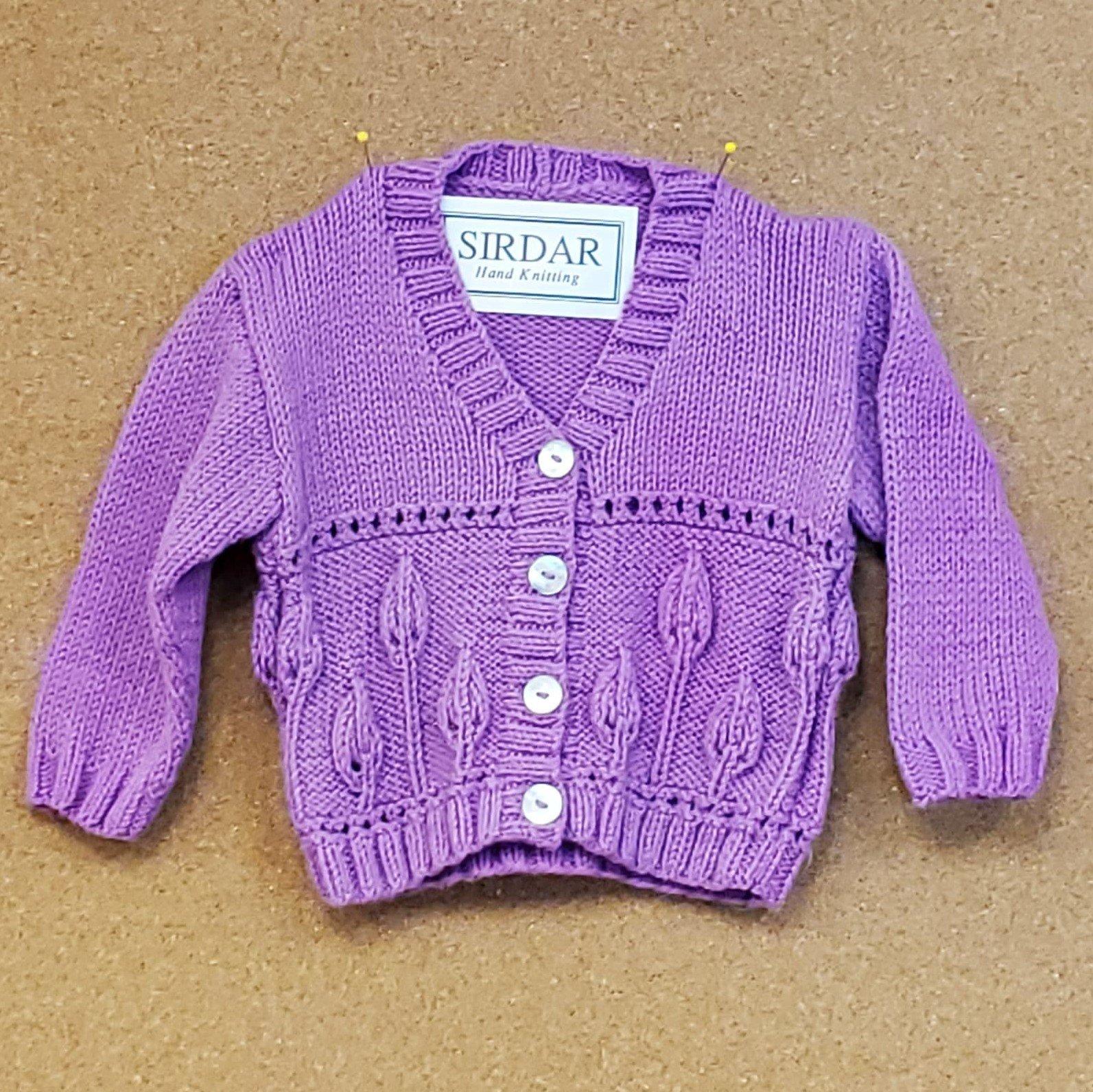 Newborn Knit Sweater - Purple