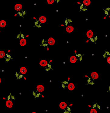 C8476 Wild Poppy - Black (21E)