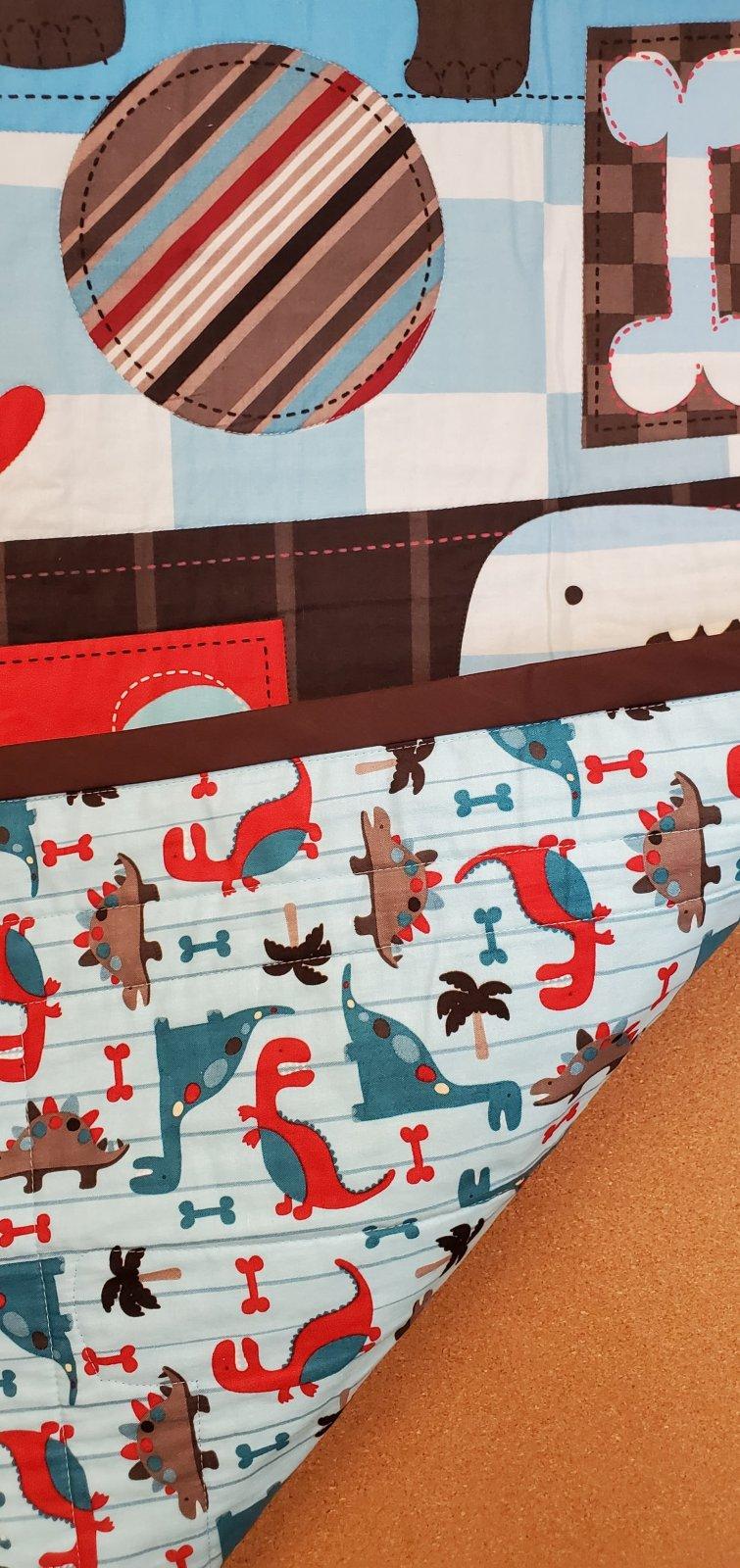 Dinosaur Baby Quilt  #2