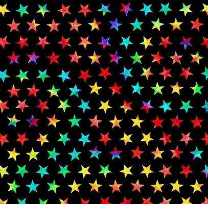 C8713-Black Groovy Tie Dye Stars (21H)