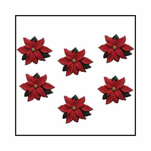 red poinsettias buttons 2951