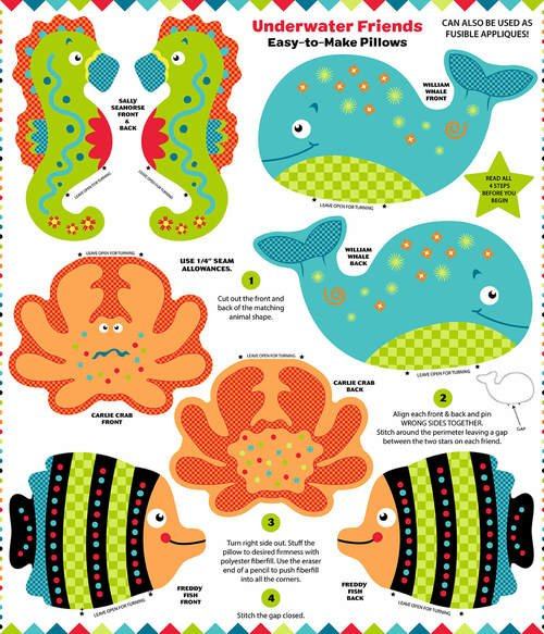 9963P Underwater Friends Pillows