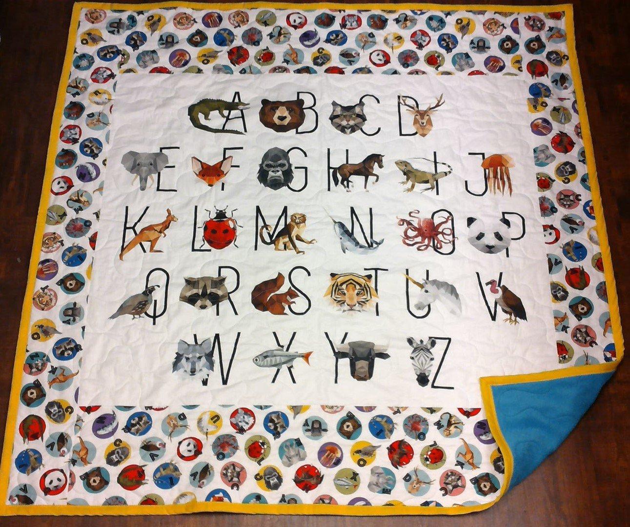 Alphabet Animals Children's Quilt