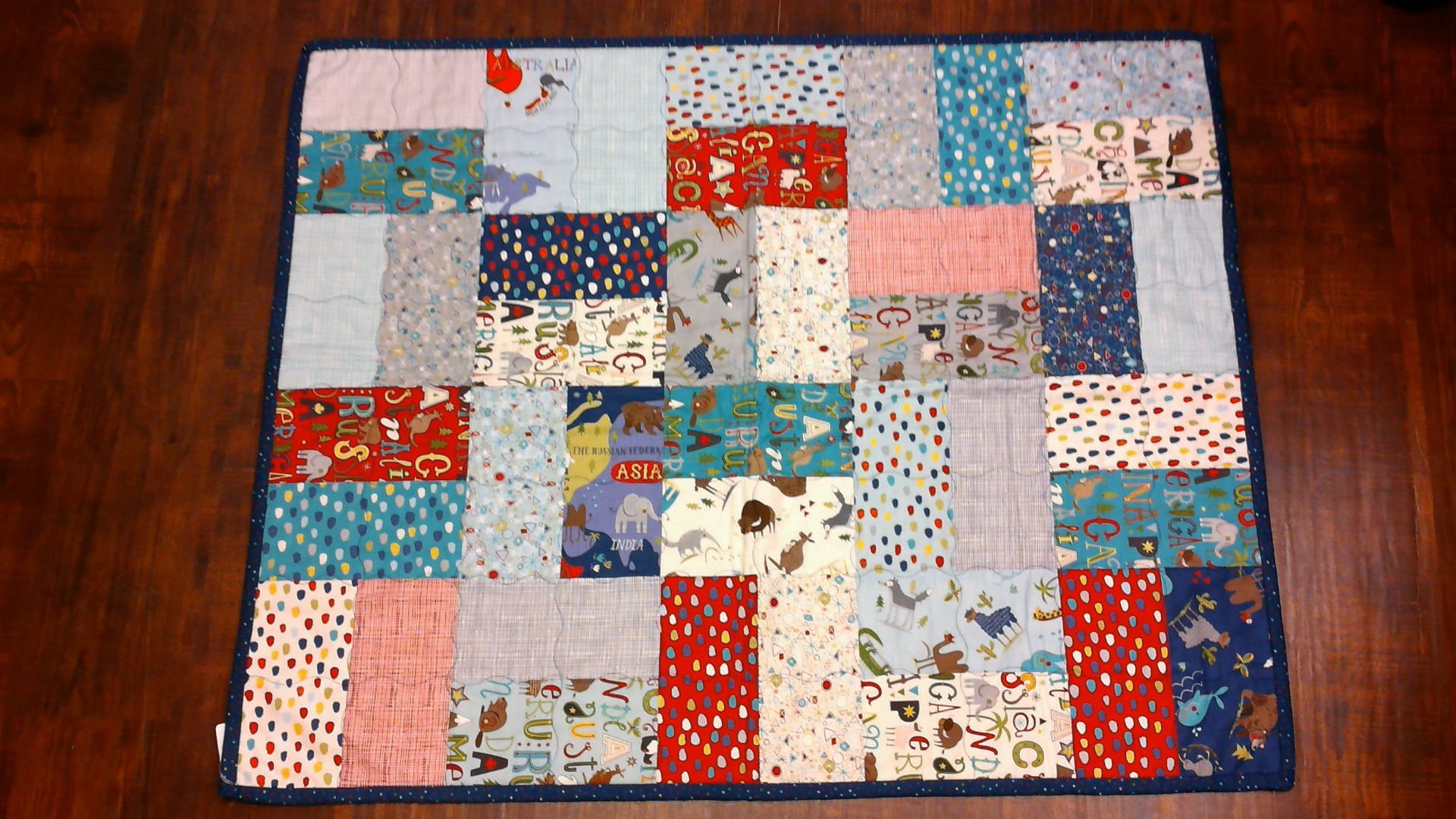Around the World Baby Quilt #2