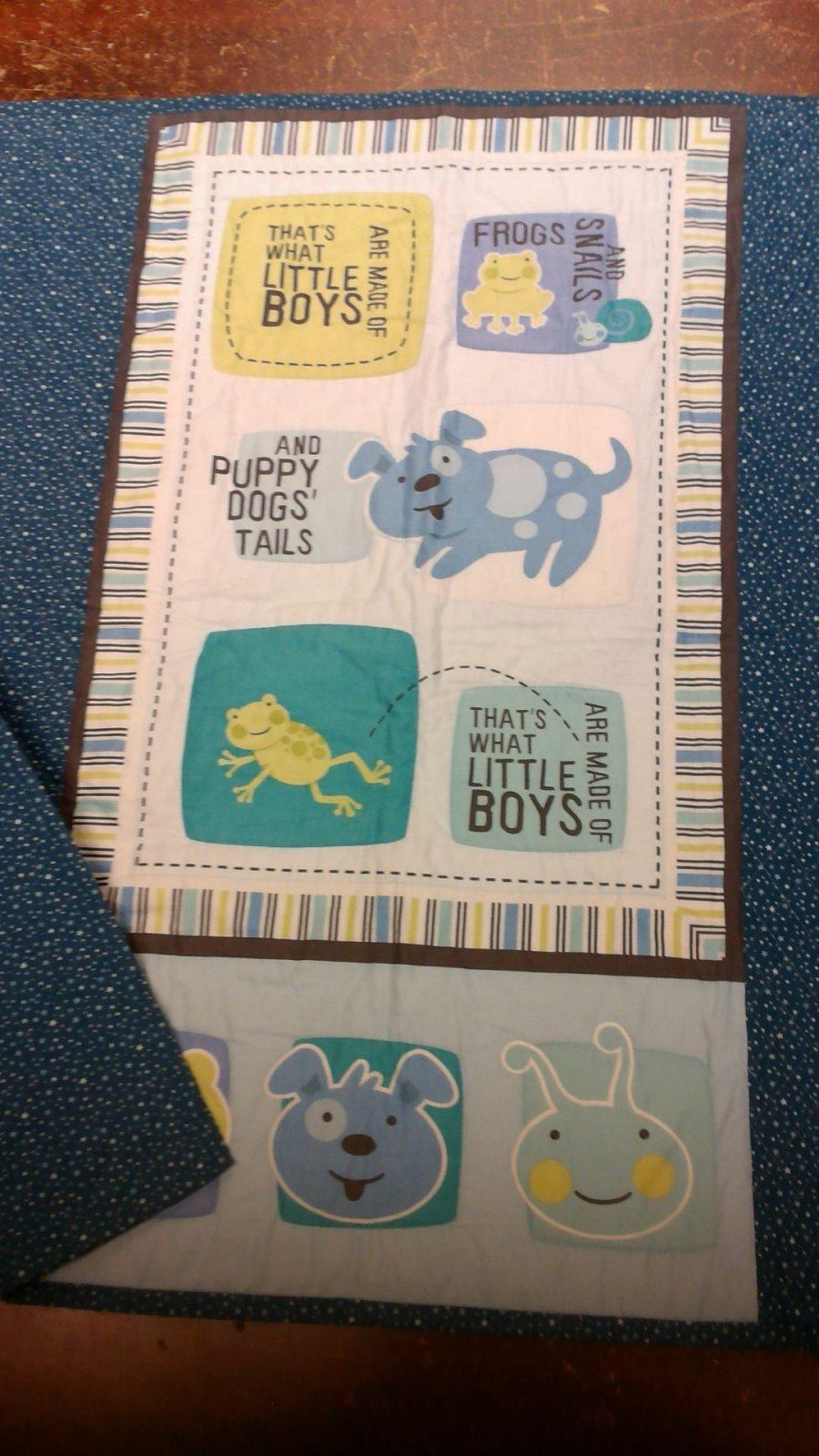 What Little Boys Are Made Of Baby Quilt