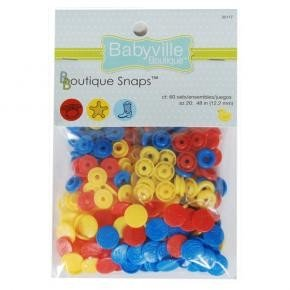 Babyville Snaps - red blue yellow