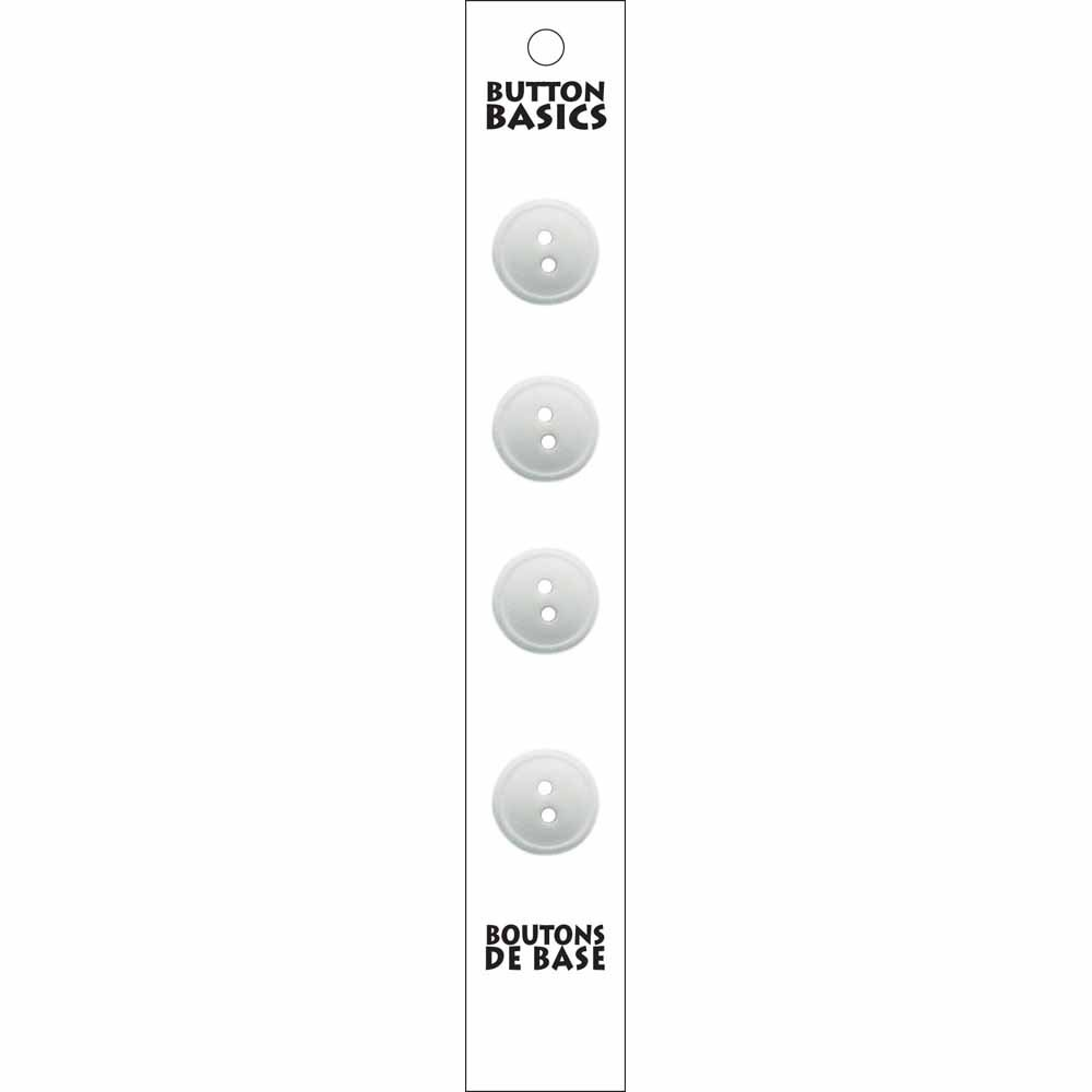 4 - 2 Hole - White Buttons - 14mm