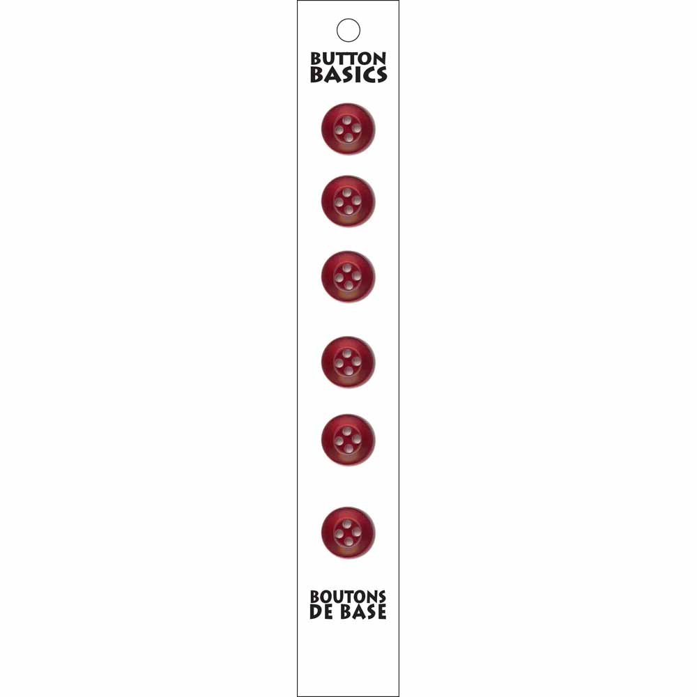 6 - 4 Hole - Wine Buttons - 12mm