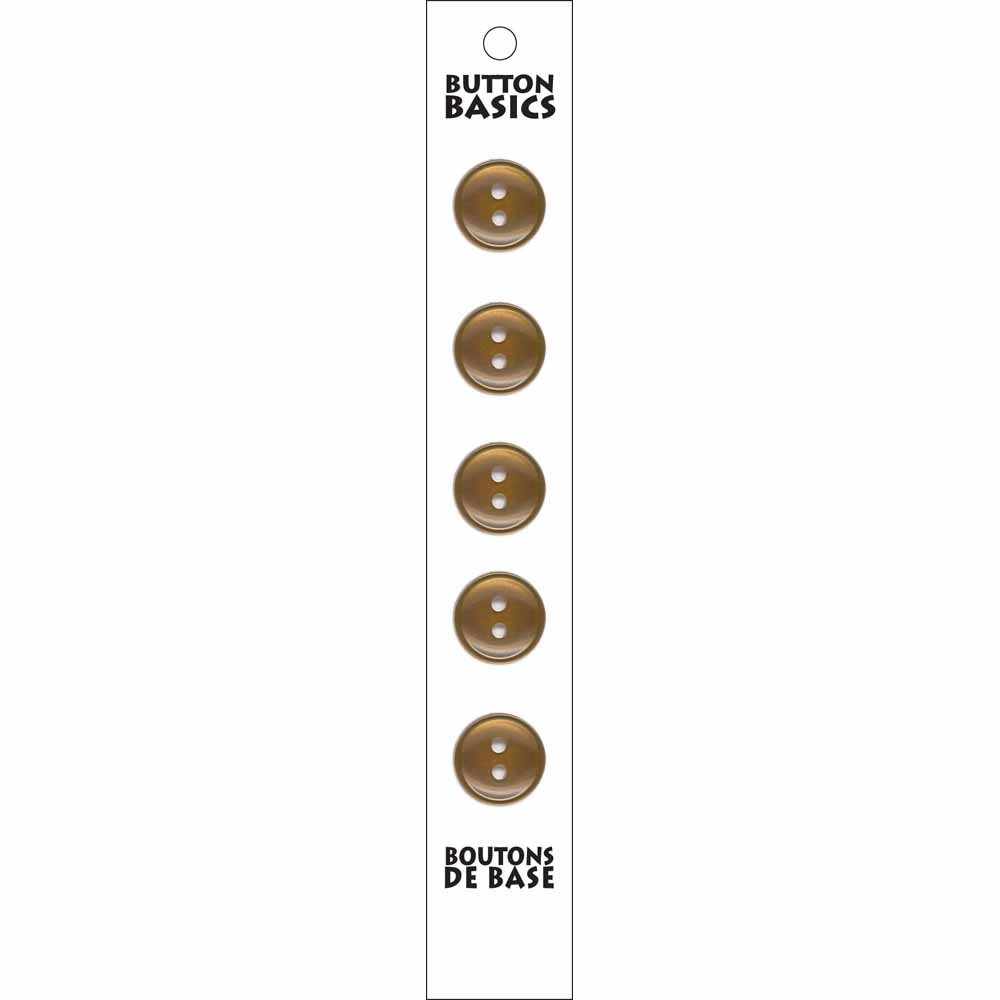 5 - 2 Hole -  Beige Buttons - 14mm