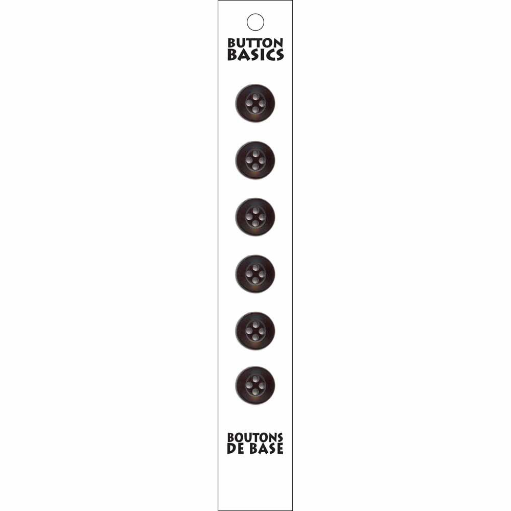 BUTTON BASICS 4-Hole Buttons - 12mm (1/2) - 6 count