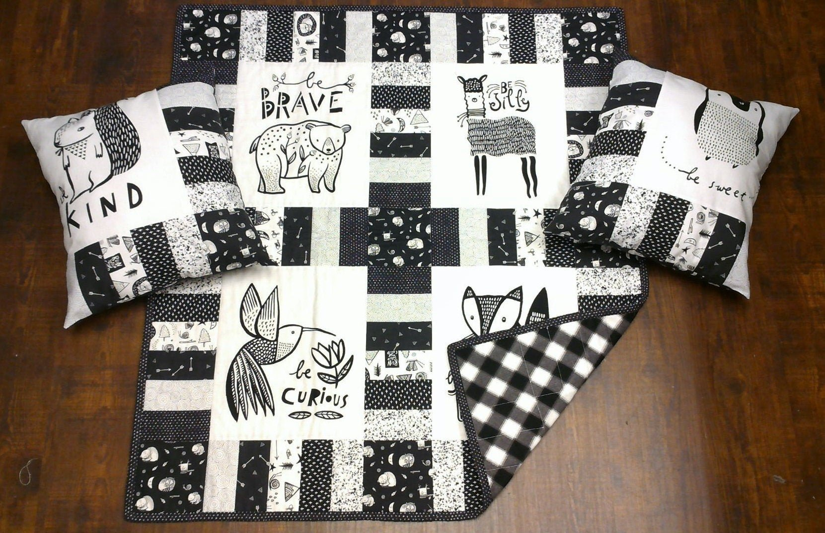 Be Yourself Baby Quilt & 2 Pillows