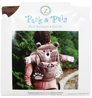 PACK & PAL Plush Backpack & Pals Kit - Bear