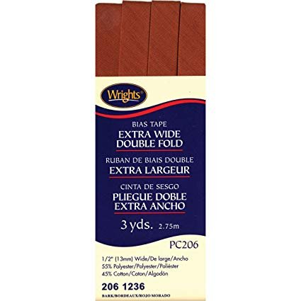Extra Wide Double Fold Bias Tape Bark 1236