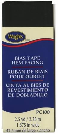 Hem Facing Bias Tape Black - 031