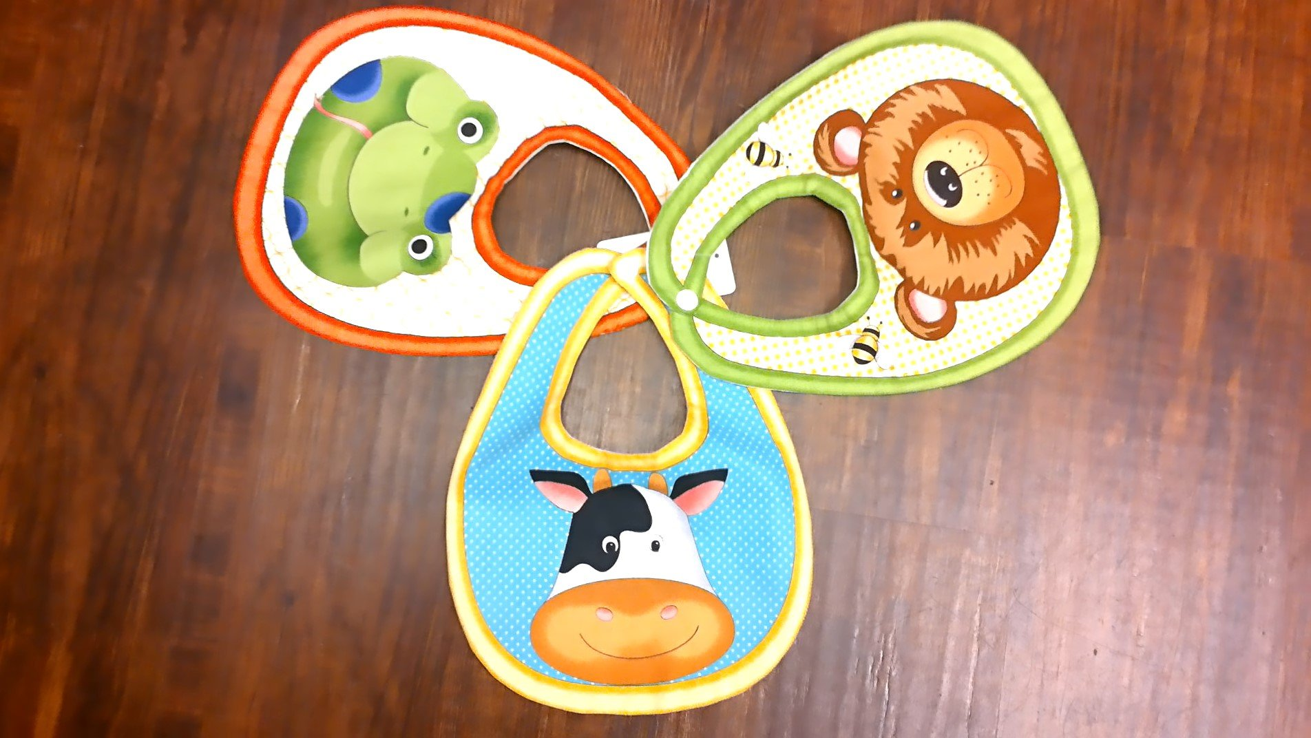Baby Bib Set - Bear, Cow & Frog