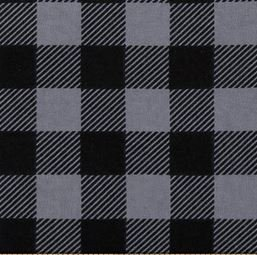 Grey/Black Soft Woven Buffalo Plaid