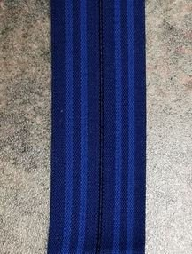 Blue Fold Over Elastic 1/2 sewn