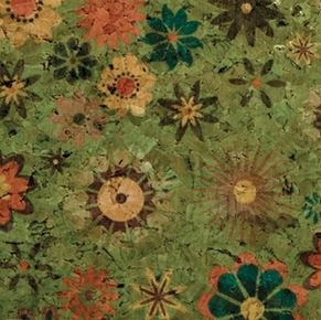 #1005 Cork Fabric 18x15 Floral