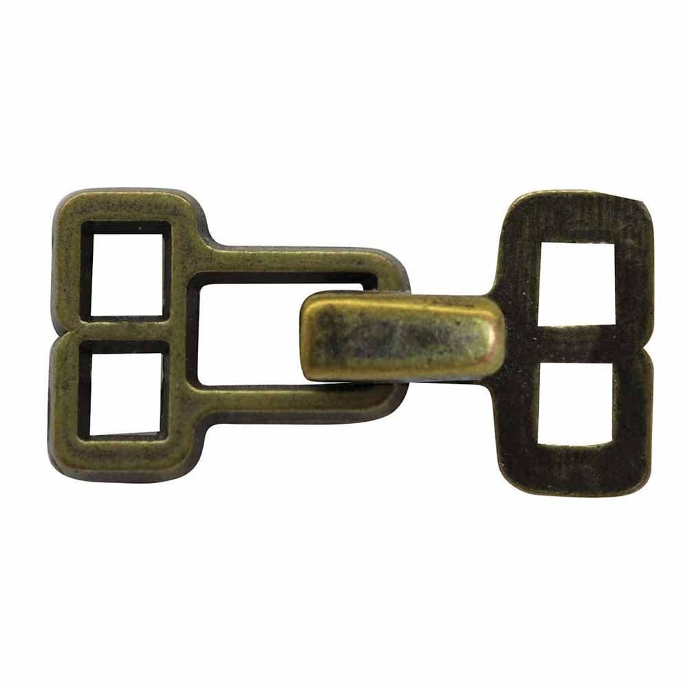 ELAN Hook & Eye - Antique Brass - 2/package